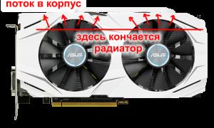 Asus dual GTX 1070 small radiator